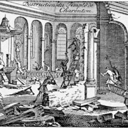 Destruction du Temple de Charenton (94)