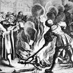 Luther brûle la bulle du Pape (10 décembre 1520)
