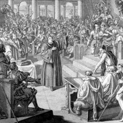 Luther devant la diète de Worms