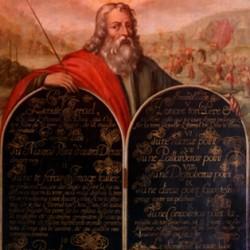 Moïse présentant les Tables de la Loi