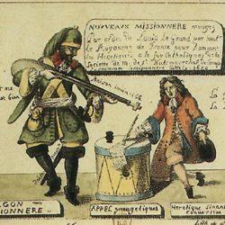 Les nouveaux missionnaires, gravure d'Engelmann (1686)