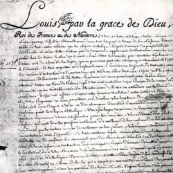 Édit de tolérance (1787), signé par Louis XVI, accordant l'état civil aux non catholiques