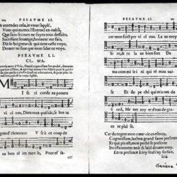 Psaume 51 du recueil officiel de Genève de 1562