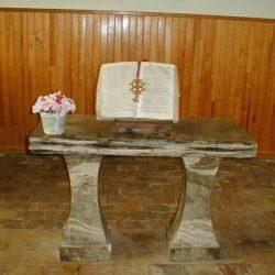 Table de Communion du temple de Saint-Jean-de-Maruejols (Gard)