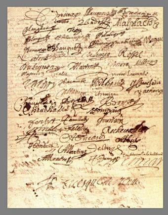 Abjurations à Marvejols (Lozère), 1685