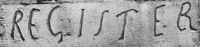«résister», inscription à la Tour de Constance