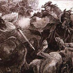 Mort de Rolland, gravure