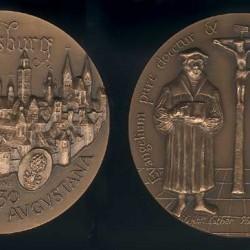 Médaille Confession d'Augsbourg : Luther et Melanchton