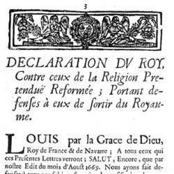 Défense de sortir du royaume (1682)