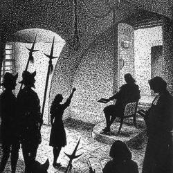 Les petits prophètes : Isabeau Vincent (gravure de S. Bastide)