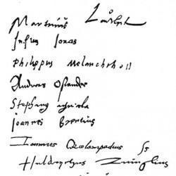 Signatures des Réformateurs (oct 1529)