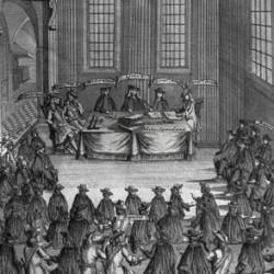 Synode national de Montpellier, 1598, gravure