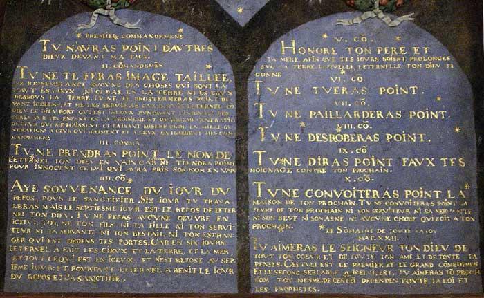 D calogues ou tables de la loi mus e virtuel du protestantisme - Les tables des 10 commandements ...