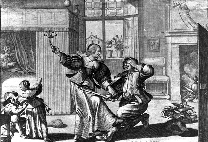 Abraham Bosse, Femme battant son mari