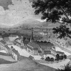 Abbaye de Port Royal aux Champs, d'après une aquarelle de M. Boullogne