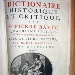 Dictionnaire historique et critique, Pierre Bayle