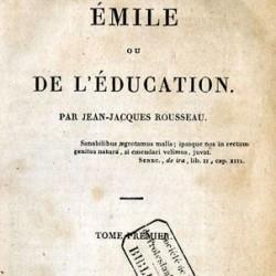Emile ou de l'Education de Jean-Jacques Rousseau