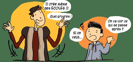 Jean Calvin crée des écoles.