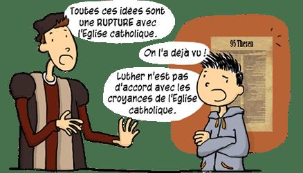 Rupture avec l'Eglise catholique