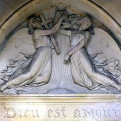 La Foi et l'Espérance (haut-relief) - Temple de Boissy-Saint-Léger (Val-de-Marne)