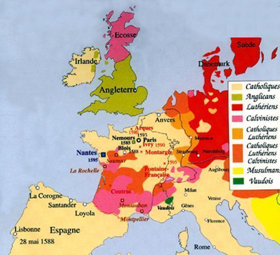 carte europe xvieme siecle
