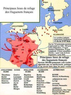 Principaux lieux de refuge