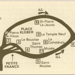 Plan du centre historique de Strasbourg