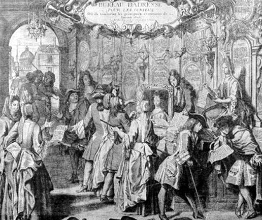 « Bureau d'adresse pour les curieux », Théophraste Renaudot