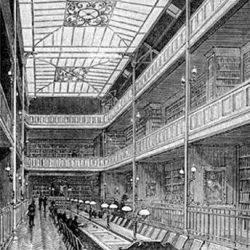 Paris, salle de lecture de la bibliothèque de la SHPF