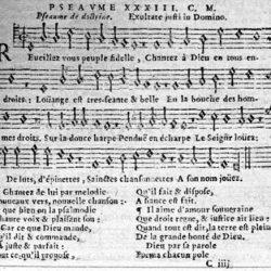 Psaume XXXIII mis en vers par Clément Marot