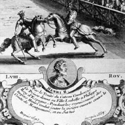 Joute entre Henri II et le comte de Montgomery