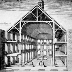 Intérieur du temple de Charenton