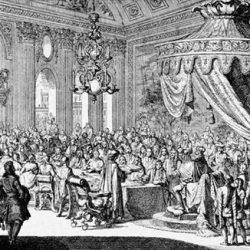 Louis XIV signant la Révocation de l'édit de Nantes à Fontainebleau