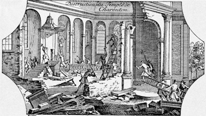 Destruction du Temple de Charenton (94)