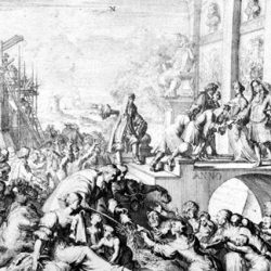 Accueil des réfugiés huguenots en 1686 en Brandebourg