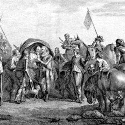Henri IV reçoit Sully blessé après la bataille d'Ivry (1590)