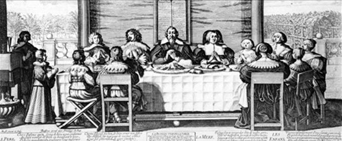 Abraham Bosse (1602-1676), La bénédiction de la table