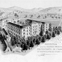 Institution pour les sourds-muets protestants à Saint-Hippolyte-du-Fort (Gard)