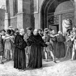 Luther affichant ses thèses à Wittenberg