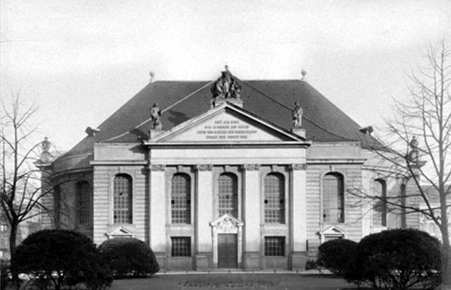 Église des réfugiés à Berlin en 1705