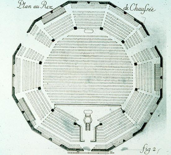 Plan du temple du Petit-Quevilly (Rouen, Seine-Maritime)