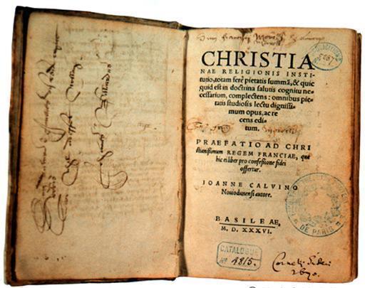 L'Institution de la religion chrétienne de Jean Calvin
