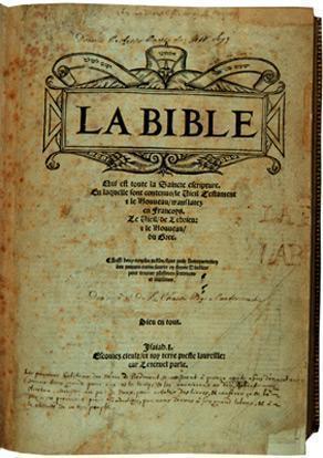 Bible d'Olivétan