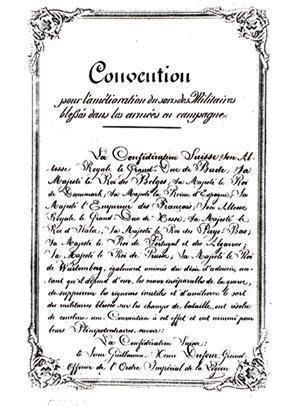Page 1 de la Convention de Genève