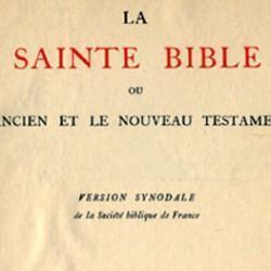 Bible version synodale, XIXe siècle, Société biblique de France