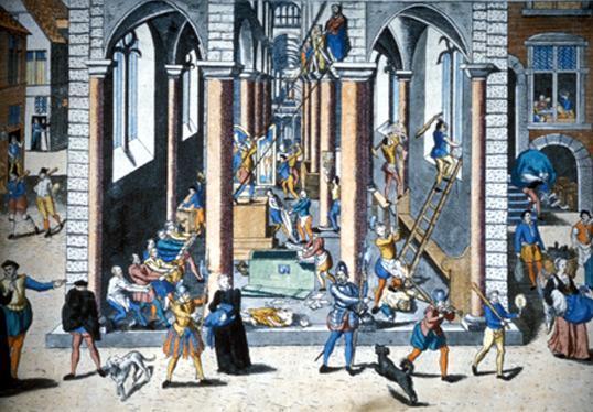 Pillages des églises par les protestants