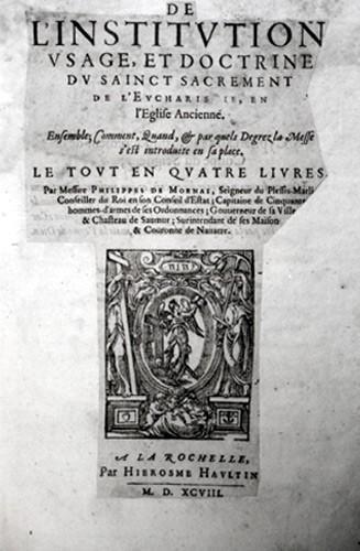 Institution de l'Eucharistie de Philippe de Mornay