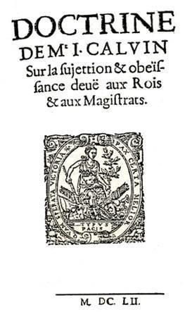 Doctrine de Jean Calvin