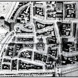 Plan de Bergerac avec temple