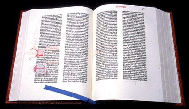 Bible de Gutenberg, à 42 lignes, 1455 - Fac similé